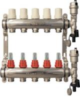 Коллекторные блоки (коллекторы теплого пола) Valtec VTc.589 из нержавеющей стали со встроенными расходомерами