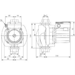 Насос циркуляционный Wilo TOP-S80/15 DM PN10
