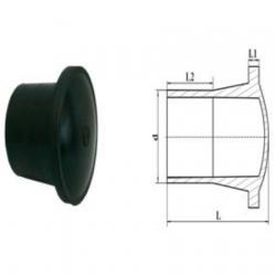 Заглушка d 110 ПЭ литая удлинённая SDR 11