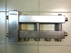 Коллектор отопления с гидрострелкой Gidruss компакт BMKSS-60-3D из нержавеющей стали