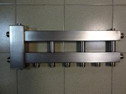 Коллектор отопления с гидрострелкой Gidruss BMSS-100-4D из нержавеющей стали