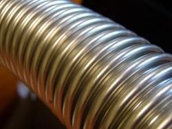 Труба гофрированная отожженная 15 нержавеющая сталь винтовая