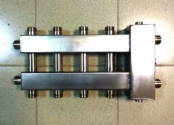 Коллектор отопления с гидрострелкой Gidruss компакт BMKSS-60-5DU из нержавеющей стали