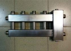 Коллектор отопления с гидрострелкой Gidruss BMSS-100-5U из нержавеющей стали