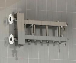 Коллектор отопления с гидрострелкой Gidruss BMF-300-4D фланцевый