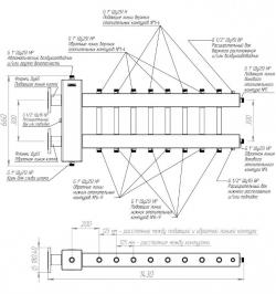 Коллектор отопления с гидрострелкой Gidruss BMF-300-9DU фланцевый