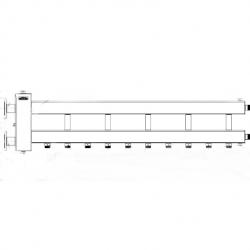 Коллектор отопления с гидрострелкой Gidruss BMFSS-300-6D фланцевый из нержавеющей стали