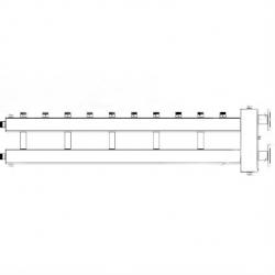 Коллектор отопления с гидрострелкой Gidruss BMFSS-300-6U фланцевый из нержавеющей стали