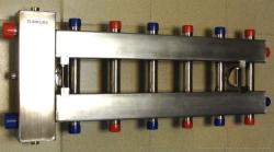 Коллектор отопления с гидрострелкой Gidruss BMSS-100-7DU из нержавеющей стали