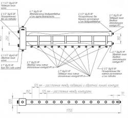 Коллектор отопления с гидрострелкой Gidruss BMSS-150-7D из нержавеющей стали