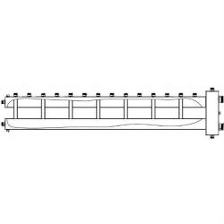 Коллектор отопления с гидрострелкой Gidruss BMSS-250-8U из нержавеющей стали