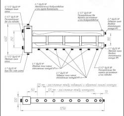 Коллектор отопления с гидрострелкой Gidruss BMSS-150-5D из нержавеющей стали