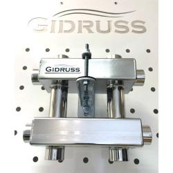 Модульный коллектор отопления Gidruss MKSS-60-3DU из нержавеющей стали
