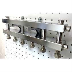 Модульный коллектор отопления Gidruss MKSS-60-4D из нержавеющей стали