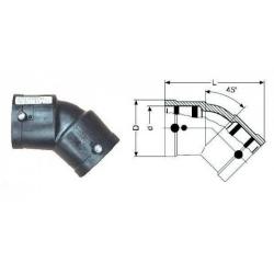 Отвод 315 электросварной 45° ПЭ 100 SDR11