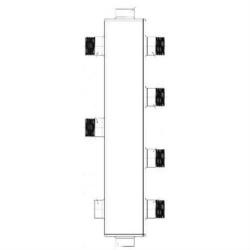 Гидрострелка для отопления Sintek с вертикальным коллектором ST-50-2 на 2 контура