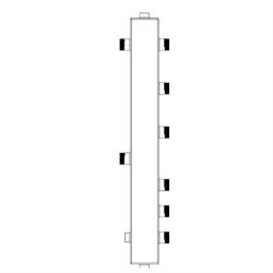 Гидрострелка для отопления Sintek с вертикальным коллектором ST-50-3 на 3 контура