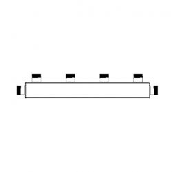 Распределительный коллектор Sintek STRK-4 для горячей и холодной воды