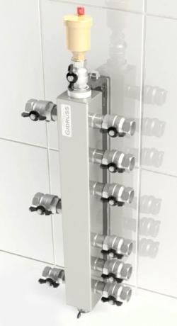 """Термо-гидравлический разделитель Gidruss """"Гидрострелка с вертикальным коллектором TGR-40-20x3"""" для отопления"""