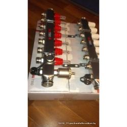 """Коллекторный блок Valtec из латуни 1"""", 4x3/4"""" со встроенными расходомерами"""