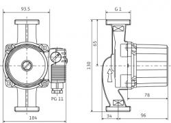 Насос циркуляционный Wilo STAR-RS25/4-130
