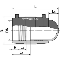 Заглушка 40 электросварная ПЭ 100 SDR11