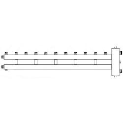 Коллектор отопления с гидрострелкой Gidruss BM-150-6U