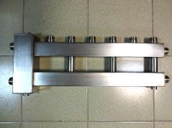 Коллектор отопления с гидрострелкой Gidruss компакт BMKSS-60-4U из нержавеющей стали