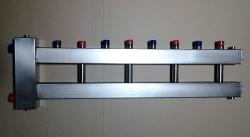 Коллектор отопления с гидрострелкой Gidruss компакт BMKSS-60-5U из нержавеющей стали