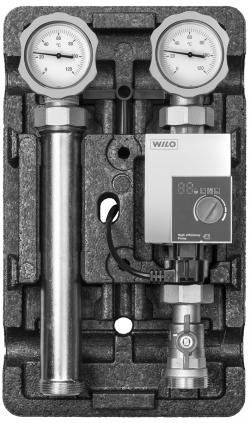 """Насосная группаMeibes«Поколение 8 MK 1 1/4"""" сосмесителем с насосом Wilo Stratos Para 30/1-7» с правой подачей"""