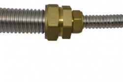 """Муфта-соединение редукционное SR 25x20 flexy """"Труба-труба"""" из латуни"""