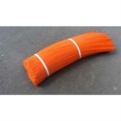 Ворс полипропиленовый для щеток, цвет оранжевый, 4 мм
