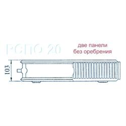 """Радиатор Sole стальной """"РСПО-20 500x1600 V"""" боковое подключение"""