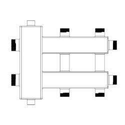 """Коллектор с гидрострелкой для отопления Sintek """"звездочка"""" STK-3S"""