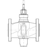 Клапан 3-х ходовой линейный ESBE VLB335 PN 16 DN65 kvs 49