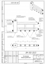 Коллектор отопления с гидрострелкой Gidruss BMSS-100-3D из нержавеющей стали