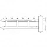 Коллектор отопления с гидрострелкой Gidruss BMFSS-300-4U фланцевый из нержавеющей стали