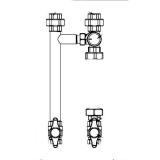 Основание насосной группы Gidruss NGSS-20 C G 3/4'' без насоса с трехходовым клапаном
