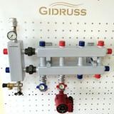 Модульный коллектор отопления Gidruss MK-40-5DU