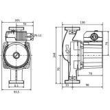 Насос циркуляционный Wilo Star-Z20/7-3(150mm)