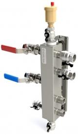 """Термо-гидравлический разделитель Gidruss """"Гидрострелка с вертикальным коллектором TGR-60-25x2"""" для отопления"""