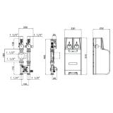 Насосный модуль Valtec Varmix VT.VAR21.G.07 с байпасом и четырехходовым клапаном