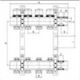 """Коллекторный блок Valtec из латуни 1"""", 7x3/4"""" с термостатическими и балансировочными клапанами"""