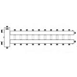 Коллектор отопления с гидрострелкой Gidruss BMSS-150-11DU из нержавеющей стали