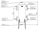 """Гидрострелка Gidruss """"Гидравлический разделитель Гидрострелка GR-2000-150 (фланец Ду-150 2000 кВт) Артикул: 21 20000 02"""