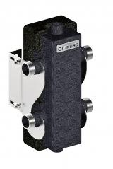 """Гидрострелка Gidruss """"Гидравлический разделитель Гидрострелка с термоизоляцией GR-60-25.EPP (G 1″, 60 кВт, 2.6 м³, 80х80x3, ст. 09Г2С) Артикул: GR 60G0T 04"""