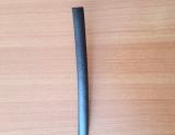 """Ротанг искусственный """"Полоса"""" 6-12 мм, черный тиснение кожа"""