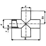 Крестовина 140 сварная ПЭ 100 SDR13,6