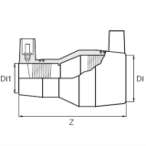 Муфта 160х90 редукционная электросварная ПЭ 100 SDR11