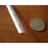 """Ротанг искусственный """"Полумесяц"""" 7 мм, белый с серым, текстура кора дерева"""